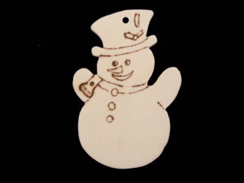 """décoration de noël """"bonhomme de neige au chapeau"""" - boutique www"""